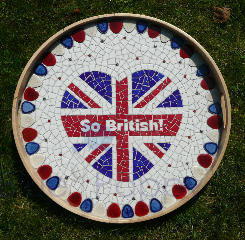 Plateau mosaïque So British my heart